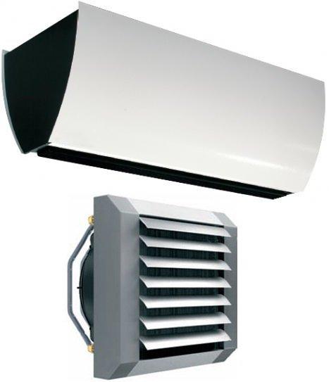 Водяные тепловентиляторы, тепловые завесы, аксессуары, комплектующие