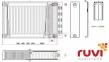 Стальной панельный радиатор Ruvi 22 тип 500х2000 мм (нижнее подключение) 0
