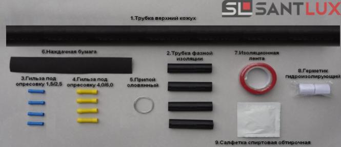 Термоусадочная муфта для кабеля погружного насоса ALFATHERM 1,5-2,5 мм