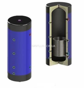 Буферная ёмкость KHT EAH-01-500 литров с нижним теплообменником из черной стали (без изоляции)