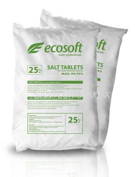 Фильтрующий материал Таблетированная соль ECOSOFT Ecosil  25 кг